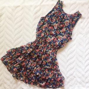 Floral Sleeveless mini Dress Forever 21 Colorful